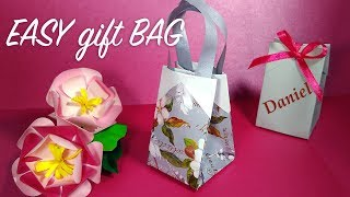 Origami gift bag in 2 MINUTES with wrapping paper! ANY SIZE!! DIY Easter favor bag!!!