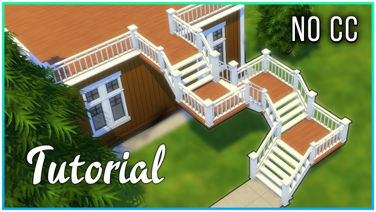 Sims 4 Tutorial   Deck Stairs With Landing | Kate Emerald