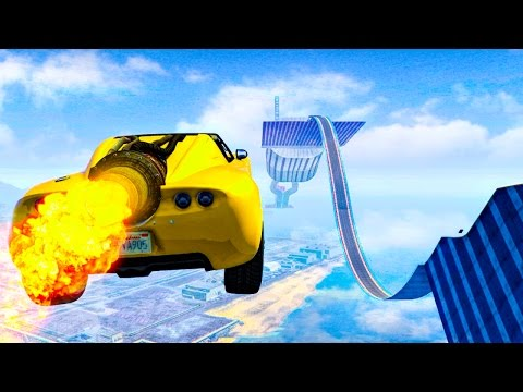 ROCKET VOLTIC STUNTS! - GTA 5 Funny Moments #678