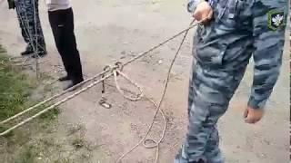 Закрепление спасательной верёвки за конструкцию 3-м способом