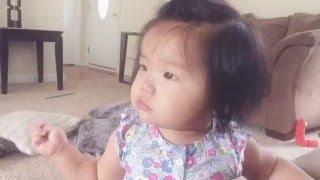 Cute baby talking