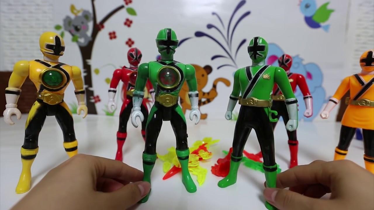 10 Anh Em Siêu Nhân Thần Kiếm, Đồ Chơi Siêu Nhân, Power Ranger Samurai Toys