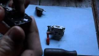 how to clean a craftsman trimmer carburetor part 1 2