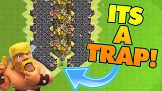 "Clash Of Clans | TROLLING CHAMPIONS! ""VALLEY OF DEATH"" EPIC TROLL BASE! ANTI NOOBS!"