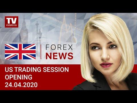 24.04.2020: USD Closing Week With Solid Gains (USDХ, DJIA, BTC, USD/CAD)