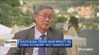Former Chinese central bank governor Zhou: Trade war impact on China economy is not significant