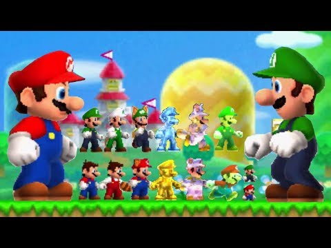 Thumbnail: New Super Mario Bros 2 - All Power-Ups (Mario and Luigi)