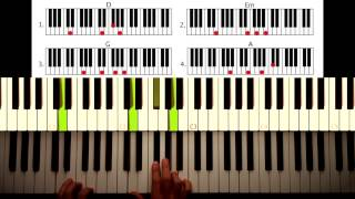 How to play: Beneath your beautiful - Labrinth. Original Piano lesson. Tutorial by Piano Couture.