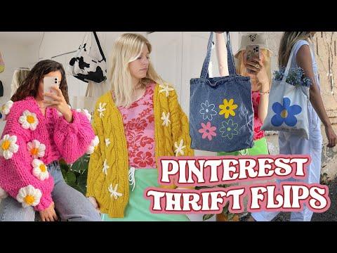 trendy pinterest inspired thrift flips   SUPER EASY & NO SEWING - YouTube