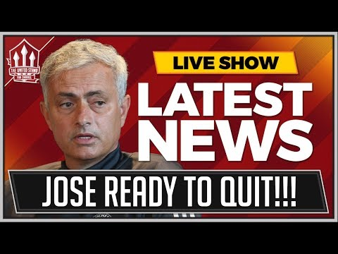 MOURINHO Ready To QUIT MANCHESTER UNITED? MAN UTD NEWS