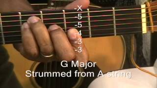 Download How To Play G Major Chord 6 Different Ways On A Guitar EricBlackmonGuitar MP3 song and Music Video