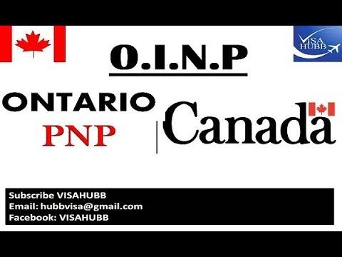ONTARIO PNP PROGRAM CANADA