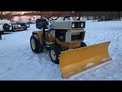 Snowplow installation on an IH cub cadet& lake ice plowing!