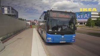 Sweden, Stockholm, bus 173 ride from IKEA to Skärholmen