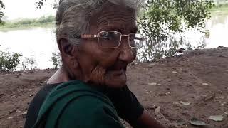 Granny in shooting spot