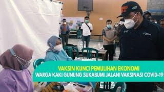 Warga Kaki Gunung di Sukabumi Jalani Vaksinasi COVID-19