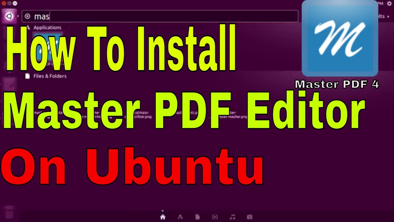Master Pdf Editor For Ubuntu