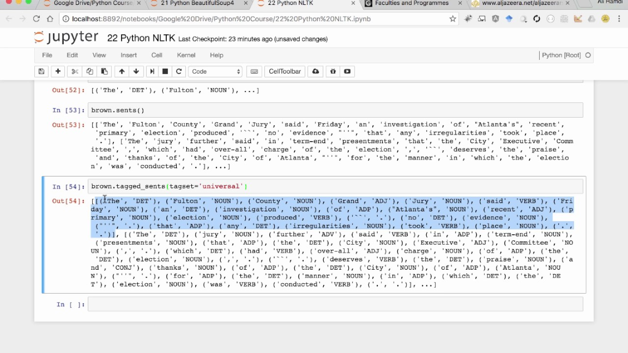 22 Python NLTK Corpus