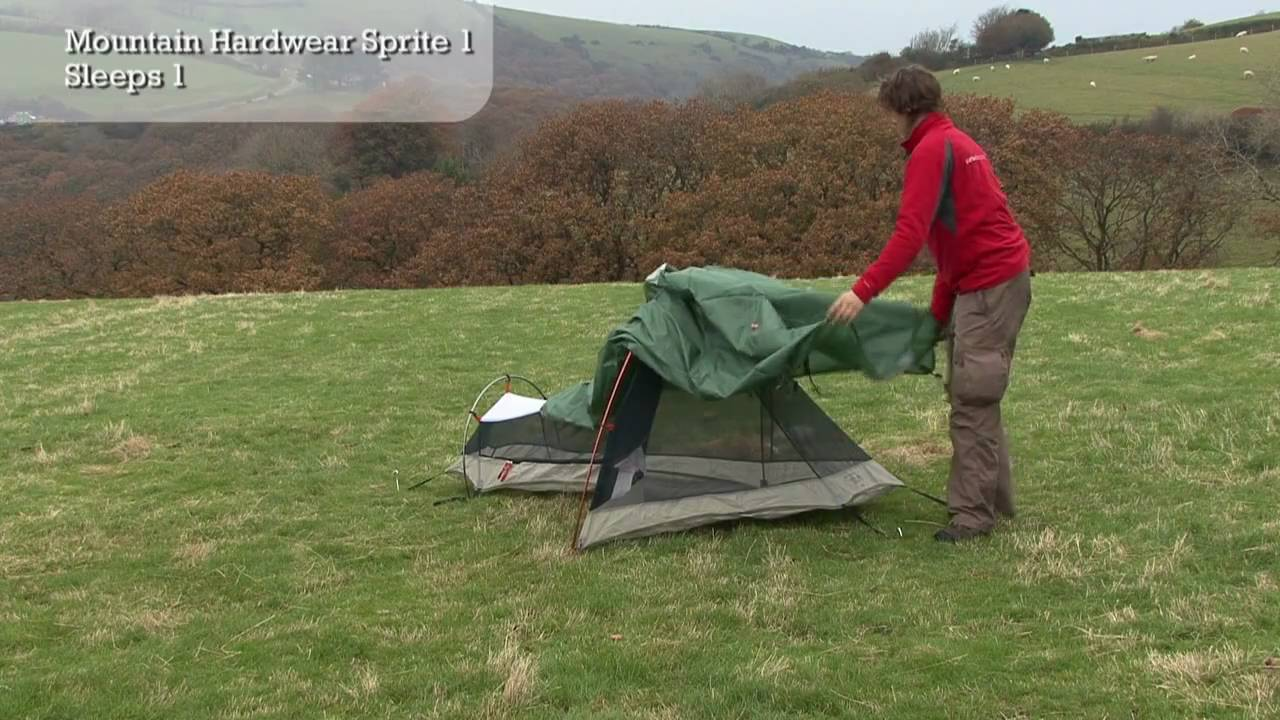 & Mountain Hardwear Sprite 1 - Tent Pitching Video - YouTube