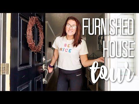 Decorated + Furnished House Tour 2019 | Furnished Boho Farmhouse