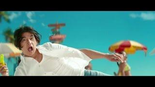 【日本CM】水原希子瑛太在沙灘進行水槍激戰展示不會濕牛仔褲?