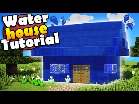 Minecraft: How to Build a House Out of Water - House Tutorial