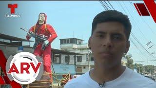 Muñecos gigantes le dan la bienvenida al Año Nuevo en Ecuador | Al Rojo Vivo | Telemundo