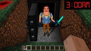Minecraft : I FOUND HELLO NEIGHBORS SECRET BUNKER AT 3AM!!(Ps3/Xbox360/PS4/XboxOne/PE/MCPE)
