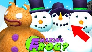 HIDE AND SEEK! SNOWMAN vs GINGERBREAD MAN - Amazing Frog Part 168 | Pungence