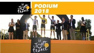 Tour de France 2018: huldiging Dumoulin, Froome en Thomas
