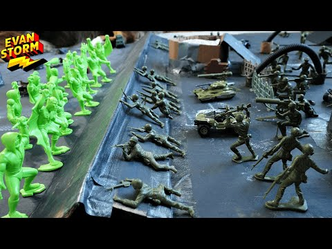 Plastic Army Men Defend Moon Base Alien Invasion Featuring Tim Mee Toys |