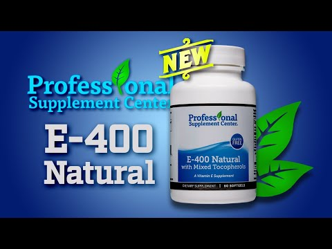 E-400 Natural with Mixed Tocopherols Pharmaceutical Grade Vitamin E Supplement