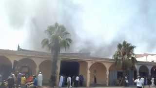 :انزكان حريق مهول يأتي على معمل للنجارة