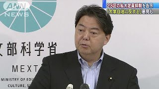 文部科学省は、東京23区にある私立大学などの定員を抑制する告示を出し...