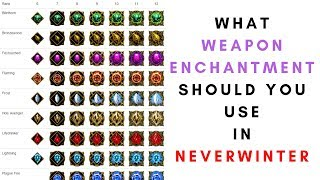 What Weapon Enchantment Should You Use In Neverwinter?