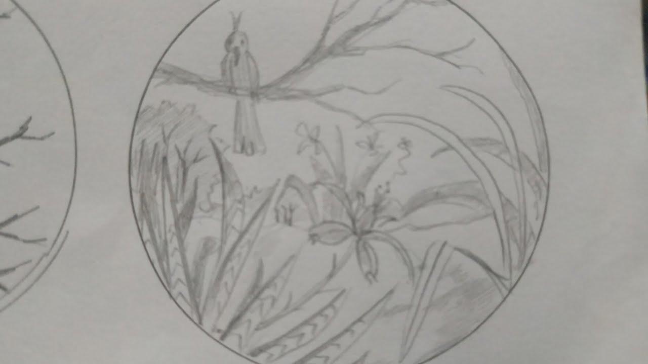 hương đồng cỏ / vẽ tranh thiên nhiên đẹp và đơn giản / vẽ tranh thời gian thực không tua / ASMR