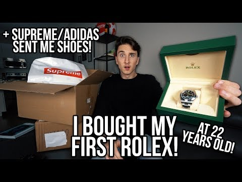 BUYING MY FIRST EVER ROLEX! (+ Adidas Sent Me Limited Sneakers/ Supreme Pick-ups)