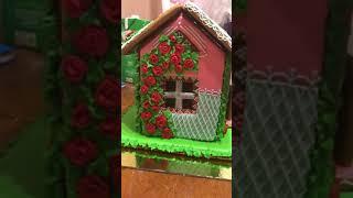 Пряничный домик на годовщину свадьбы! Часть 2