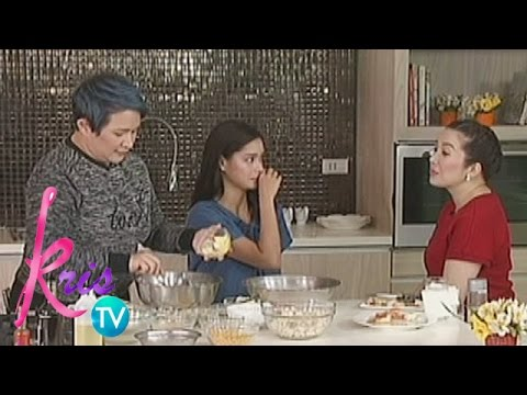 Kris TV: Crab cakes with Corn Soup recipe