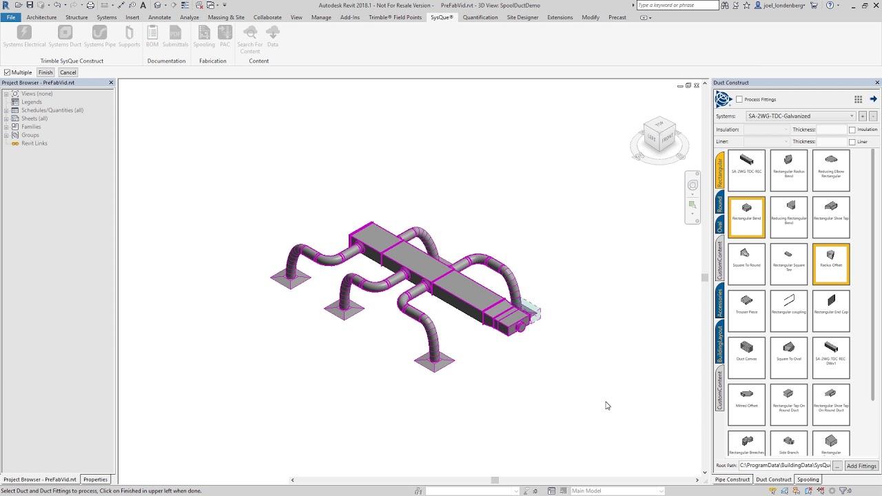 Trimble SysQue Prefabrication