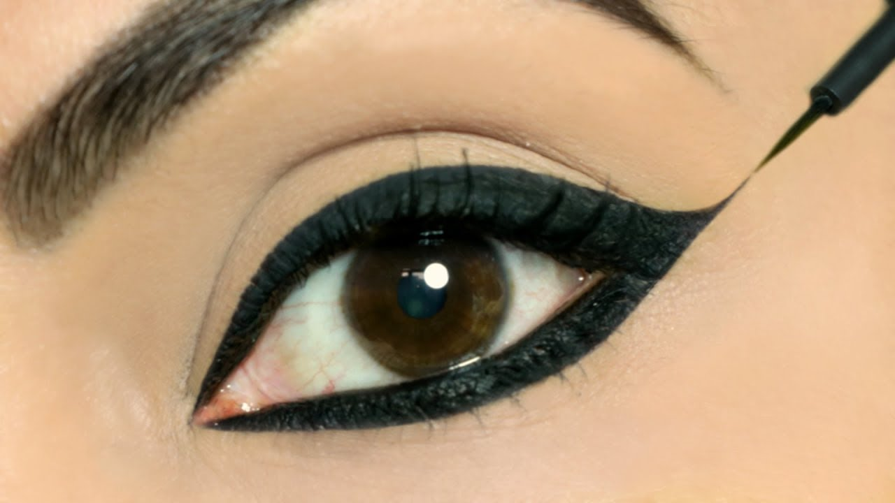 Image result for Use These TRICKS To Apply Perfect Wing Eyeliners on BOTH Eyes | Shruti Arjun Anand