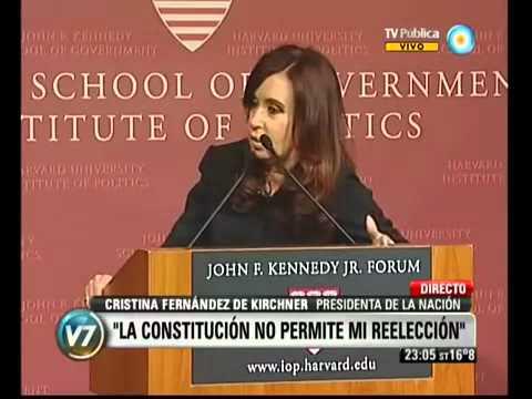 Preguntas de alumnos a Cristina Fernández de Kirchner en Harvard