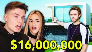 reacting to celebrity mansions