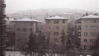 Ankara 1 Saat Kar Yağışı | Ankara Kar Yağışı 2020