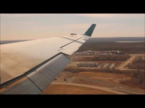 Air Canada Beech 1900 Takeoff/Landing - Halifax To Fredericton
