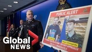RCMP take questions on Canada-wide manhunt for murder suspects | FULL