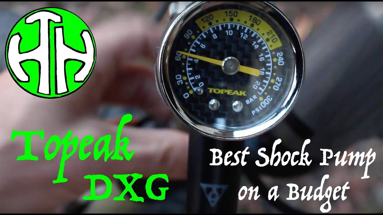 Topeak Pocketshock DXG XL Vélo Suspension Shock Pompe avec 360psi Gauge