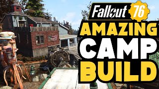 Fallout 76: Incredible CAMP build, with stunning Interior! Top Camps Ep.25