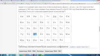 Хакасский язык: звуки и буквы в хакасском алфавите. Урок третий