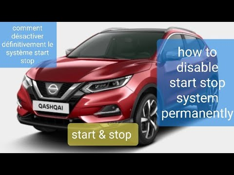 How To Disable Permanently System Start & Stop On Nissan Qashqai2